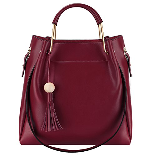 s-zone-3-way-women-genuine-leather-top-handles-handbag-tote-bag-with-long-shoulder-strap-wine-red