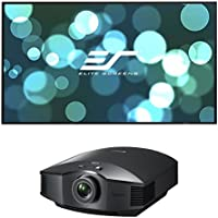 Sony VPL-HW45ES Full HD SXRD Home Cinema Projector with Elite Screens Aeon Series 110 Diagonal Edge-Free Projector Screen