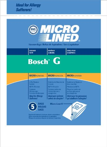 Amazon.com - PAPER BAG, MICRO LINED TYPE G BOSCH DVC 5PK -