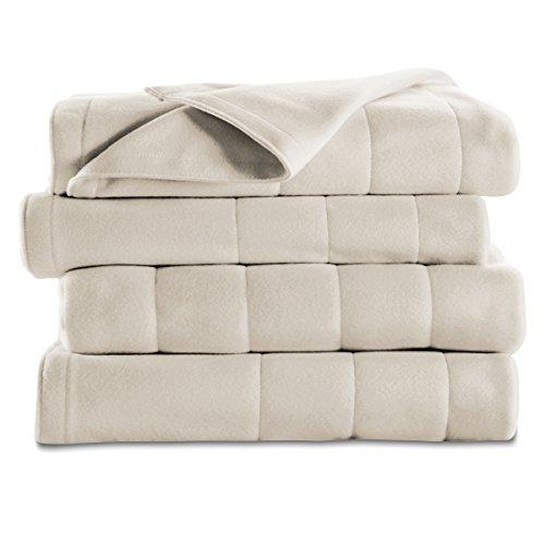 Sunbeam Quilted Fleece Heated Blanket Bed Blankets