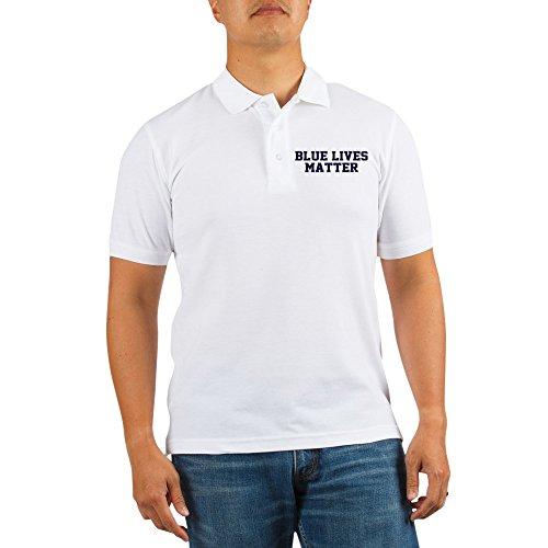 CafePress - Blue Lives Matter Shadow - Golf Shirt, Pique Knit Golf Polo