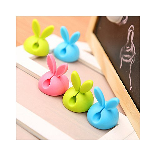 16Pcs Cable Organizer Management Kit,Rabbit Ears Silicone self-Adhesive Desk Cable Clips Holder