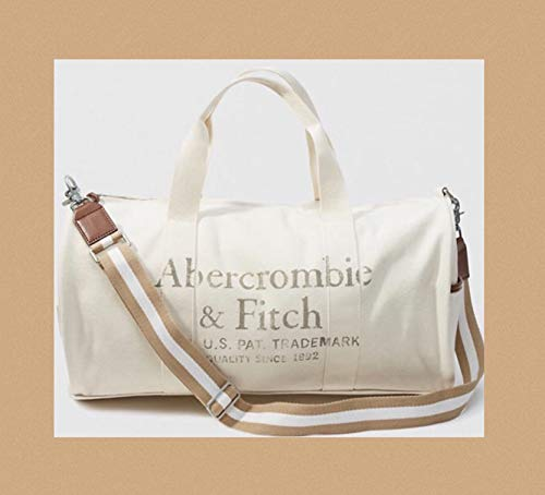 ABERCROMBIE & FITCH TAN CREAM DUFFLE -- SOLD OUT