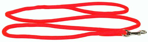 Hamilton 5/16 Inch x 4 Foot Round Braided Nylon Dog Lead with Swivel Snap, Red (836 RD), My Pet Supplies