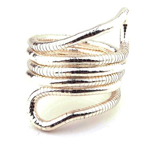 HOPEANT Flexible Bendable Snake Bracelet Wrap Bangle Twistable Adjustable Neck Collar Choker Necklace Waistband (B-Sliver)