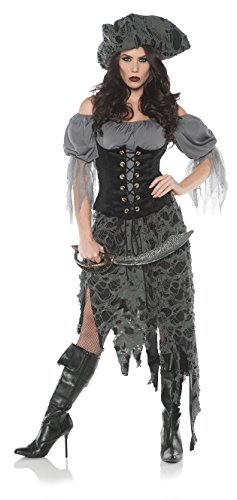 Women's Tattered Ghost Pirate Zombie Costume - Large - Zombie Couples Costumes