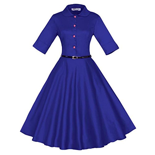 VKStar - Vestido - trapecio - para mujer Azul
