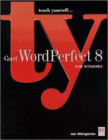 Teach Yourself Corel WordPerfect 8 For Windows: Jan