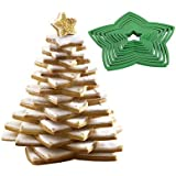 Lakeland 3D Christmas Tree 10pc Cookie Cutter Set (inc 3 Icing Bags & 2 Nozzles)