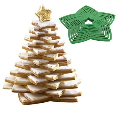 Lakeland 3d Christmas Tree 10pc Cookie Cutter Set Inc 3 Icing Bags 2 Nozzles