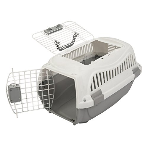 Plastic Carrier (Favorite 19.5-Inch Portable Two Door Top Load Pet Plastic Carrier Crate for Small Animals)