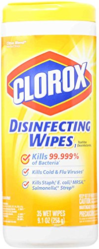 Price comparison product image Clorox 01594EA Disinfecting Wipes, 7 x 8, Citrus Blend, 35 Per Canister