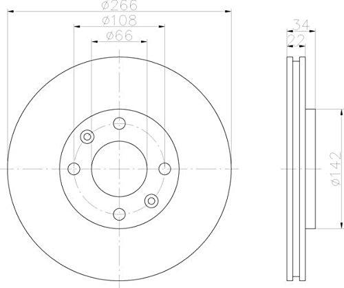 QSP Car Front Brake Discs Set QSPWBD00046