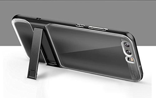 HUAWEI P10 Funda - Soporte Invisible a Prueba de Choques de Protección Transparente Carcasa para HUAWEI P10 - Negro Negro