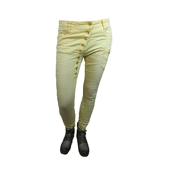 Gold SK Jeans Damen Skinny Jeans Jeanshose Used Look