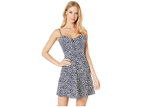 (J.O.A. Women's Navy Animal Mini Dress, Navy Animal, Print, Blue, X-Small)