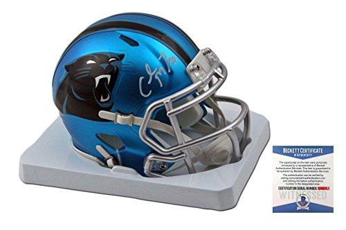 Christian McCaffrey Autographed Carolina Panthers BLAZE Spee