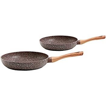 Gibson 112023.02 Orestano 2 Piece, 8 and 10 Inch Fry Pan Set, Granite Look