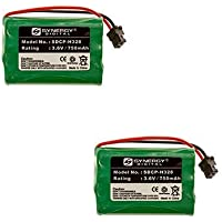 Radioshack 23-274 Cordless Phone Battery Combo-Pack Includes: 2 x SDCP-H328 Batteries