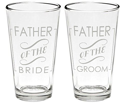Father Beer Glasses (2, Father of Bride and Groom), Original by Kiboko LLC (Image #1)