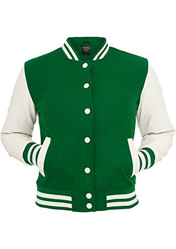 MAG Urban Classics tb217Ladies Oldschool College Jacket Chaqueta Mujer Streetwear Jacken gry/wht