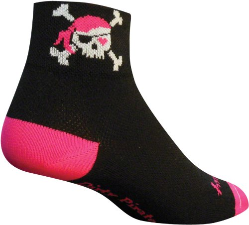 SockGuy Women's 2in Lady Pirate Cycling/Running Socks (Lady Pirate - S/M) -