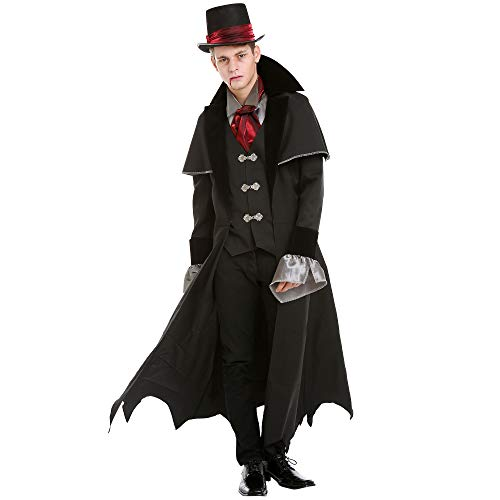 Boo Inc. Victorian Vampire Halloween Costume for Men | Scary Classic Dracula Dress Up, XL -