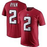 Majestic Athletic Men's Atlanta Falcons #2 Matt Ryan Player Pride T-Shirt – Red