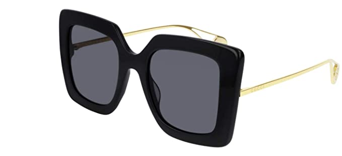 672546c99da Amazon.com  Gucci GG0435S 001 Black GG0435S Square Sunglasses Lens ...