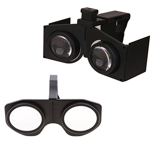 Baoblaze MINI Plastic Foldable 3D VR Glasses with HD Lens for 3.5-6'' Phone & VR Fold 3D Virtual Reality Glasses Google Cardboard For Smart Phone by Baoblaze