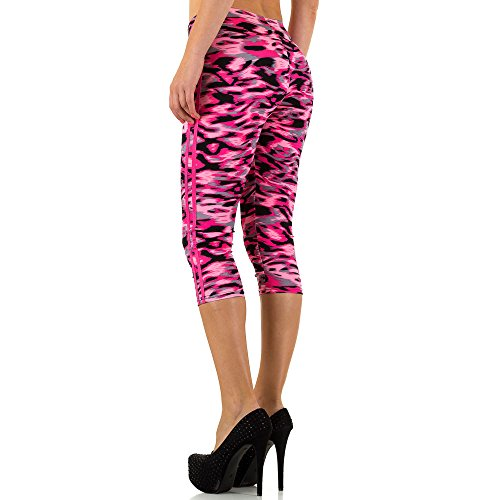 Gemusterte Jogging Capri Leggings Für Damen , Pink In Gr. S/M bei Ital-Design