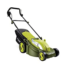 Lawn cleanup just got easier with the Sun Joe Mow Joe MJ403E. No more messy gas or oil! Just power up your Mow Joe with the push of a button and watch its powerful 13-amp motor mow a 17-inch wide path in a single pass. Easily control the cutt...