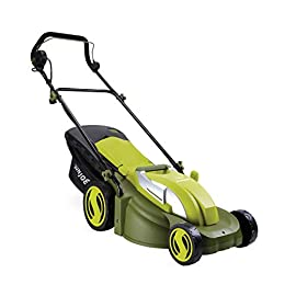 Sun Joe MJ403E Mow Joe 17-Inch 13-Amp Electric Lawn Mower/Mulcher 60 Maintenance free - No gas, oil or tune-ups Powerful 13-amp motor cuts a 17-inch wide path Tailor cutting height with 7-position height control