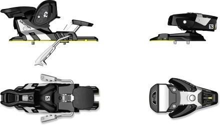 Salomon N STH WTR 13W Br Black/White Ski Bindings 2016 - Brakes 90mm ()