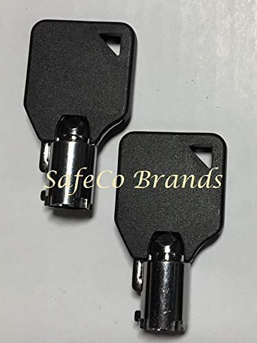 Safeco Brands Homak Safe Steel Keys mit Black Kopf Code Series Hmc0001 Thru Hmc31000 2-Steel Keys W/Black Head