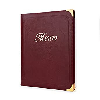 Amazoncom Menu Covers Segarty Leather Menu Holders With Insert - Table menu holders for restaurants