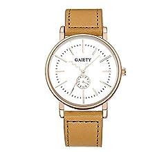 ¡Promoción Relojes de Cuarzo para Hombre Liquidación Relojes analógicos únicos en Oferta Relojes de Pulsera de Cuero para Hombres (Negro): Amazon.es: ...