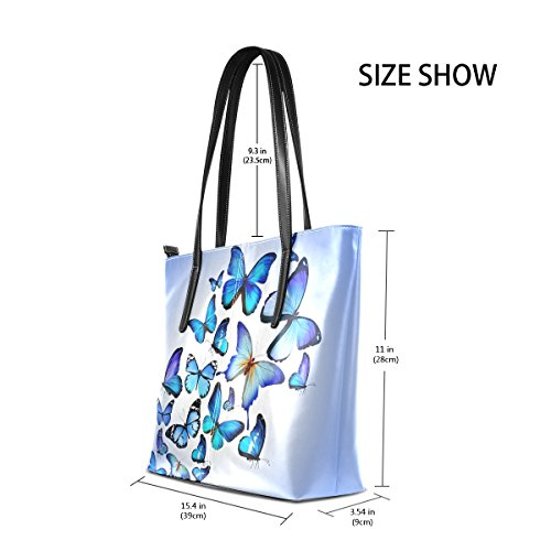 Beautiful For Drawing Coosun Leather Butterfly Purse Pu Art Handbags Blue Colorful Tote Bag Women Muticolour Bag Means Shoulder And dIIZcw1q
