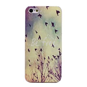 Be free Transparent Side Hard Back Skin Case Cover for iPhone 5 5S