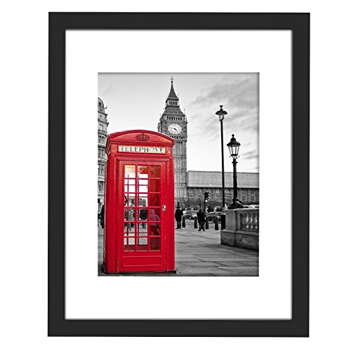 11x14 Picture Frame Black with 3 Mats for 5x7 or 8x10 or 8.5x11 Pictures, Wood Instagram Photo Frame(Both Vertical and Horizontal Supported)