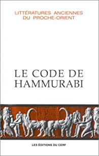 Le Code de Hammurabi par  Anonyme