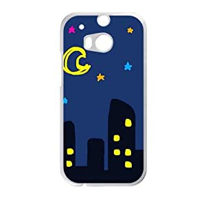 Cartoon night scenery fashion phone case for HTC One M8
