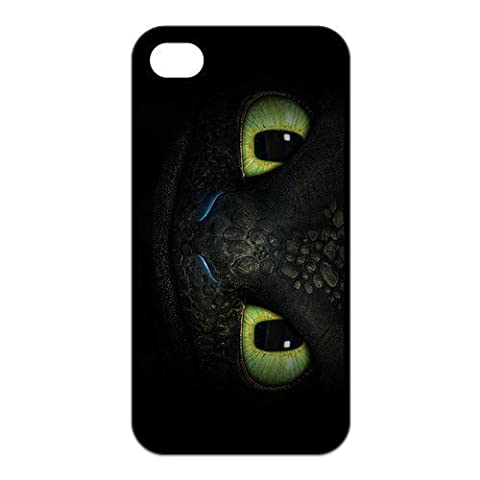 FEEL.Q- How to Train Your Dragon Toothless Personalized Custom Hard TPU Rubber iPhone 4 & 4S Case (Personalized Iphone 4s Phone Case)