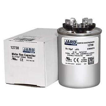 10 uf MFD 370 VAC Round Dual Capacitor 12738 Replaces C33510R 97F9830 35