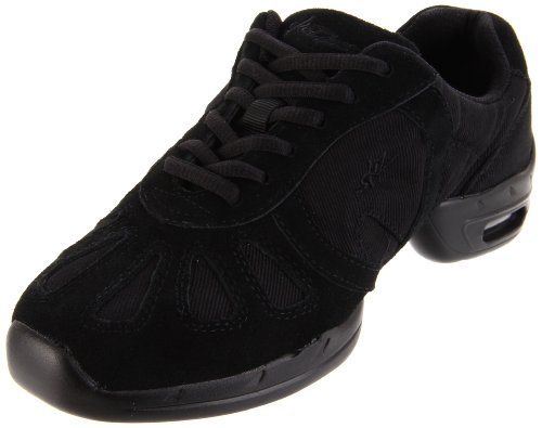 SANSHA Hi-Step Dance Sneaker,Black,9 (8 M US Women's)