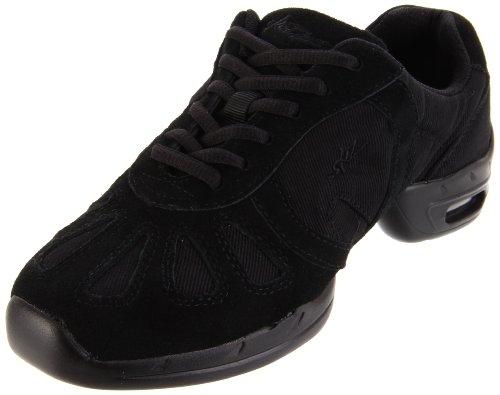 (SANSHA Hi-Step Dance Sneaker,Black,7 (6 M US Women's) )