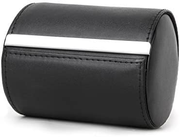 Negro cuello cuello corbata de almacenamiento funda de transporte caja de regalo forma de cilindro