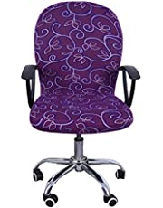 Chris.W Computer Office Chair Cover Stretchable Removable Office Swivel Chair Cover Universal Lift Chair Slipcovers(Purple Cirrus)