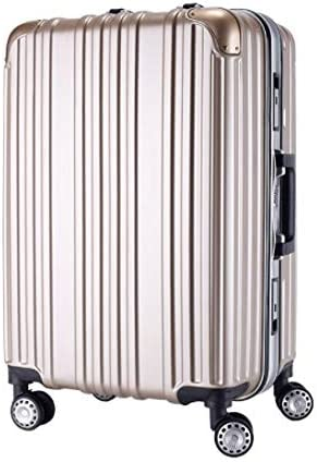 Lcslj Trolley Universal Wheel Aluminum Frame 360 Degree Mute Caster Luggage Student Color : Champagne Gold, Size : S