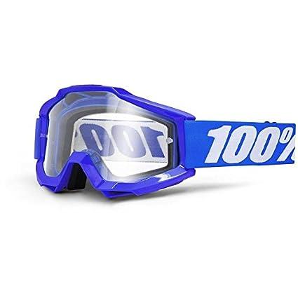 100 % PROZENT ACCURI REFLEX BLAU BRILLE GOGGLE 2014 MOTOCROSS CROSS MTB QUAD ATV SUPERMOTO (Klar) 2601-1494-M
